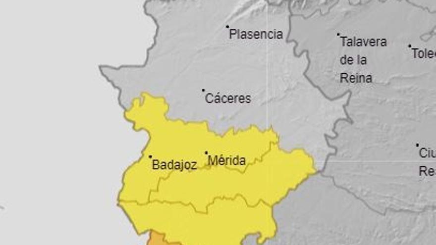 La alerta por tormentas continuará este jueves en la provincia de Badajoz