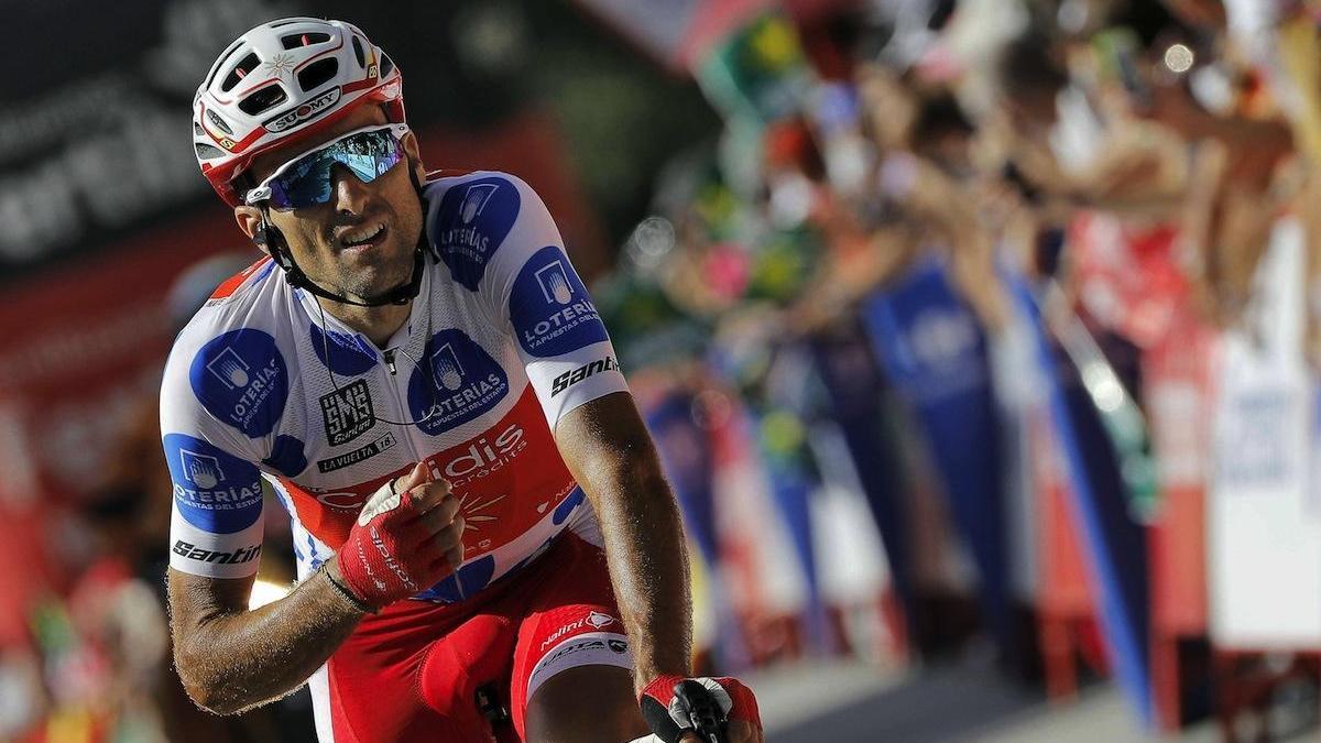 Luis Ángel Maté, durante la Vuelta a España de 2018.