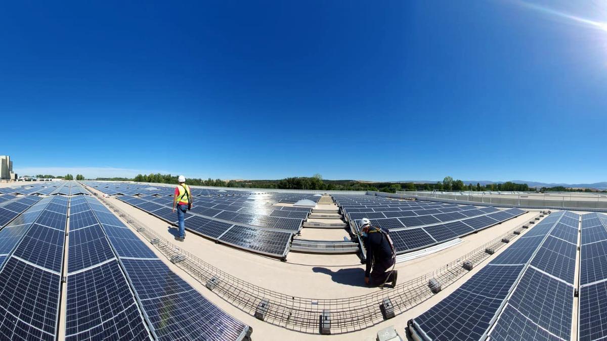 Instalación solar en Segovia.