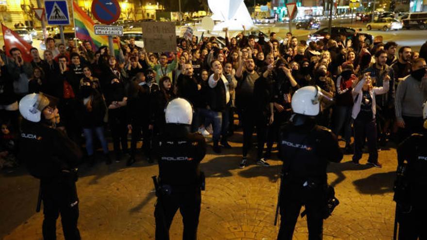 Dos detenidos en la protesta antifascista en Murcia