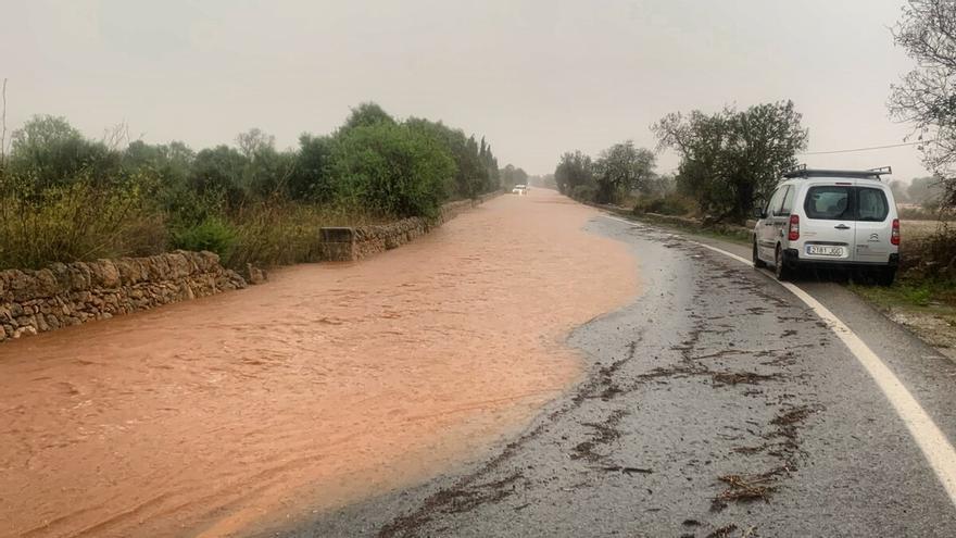 Estas son las carreteras cortadas debido a la gota fría en Mallorca