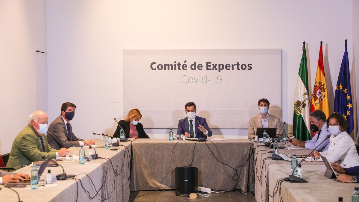Foto de archivo de la reunión del Comité de Expertos sobre el coronavirus de la Junta de Andalucía.