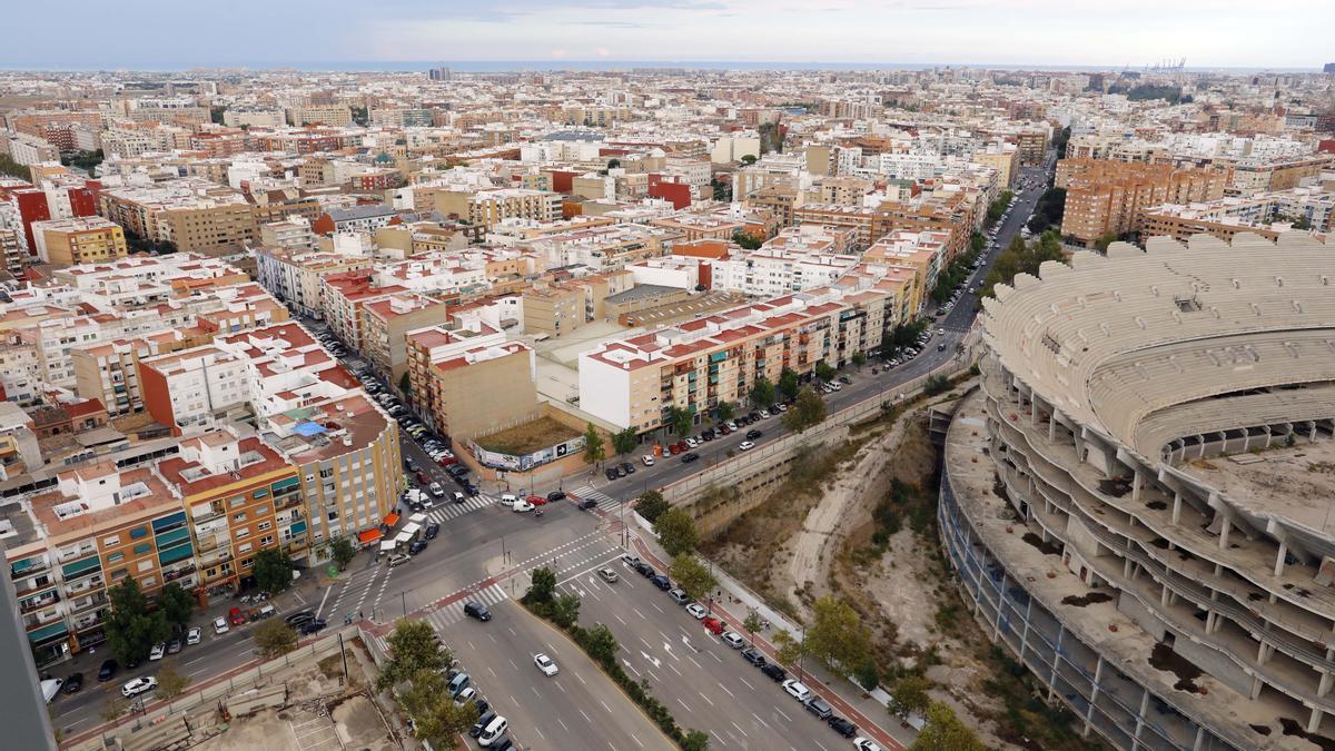 Nuevo Mestalla y entorno de Benicalap