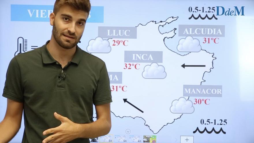 El tiempo en Mallorca del fin de semana: Chubascos y tormentas la madrugada del sábado