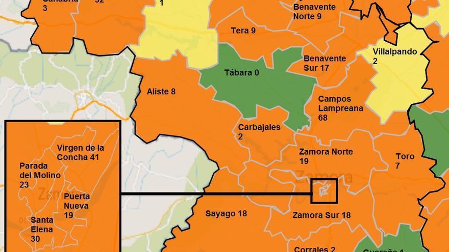 La pandemia se recrudece en Zamora capital y en Benavente
