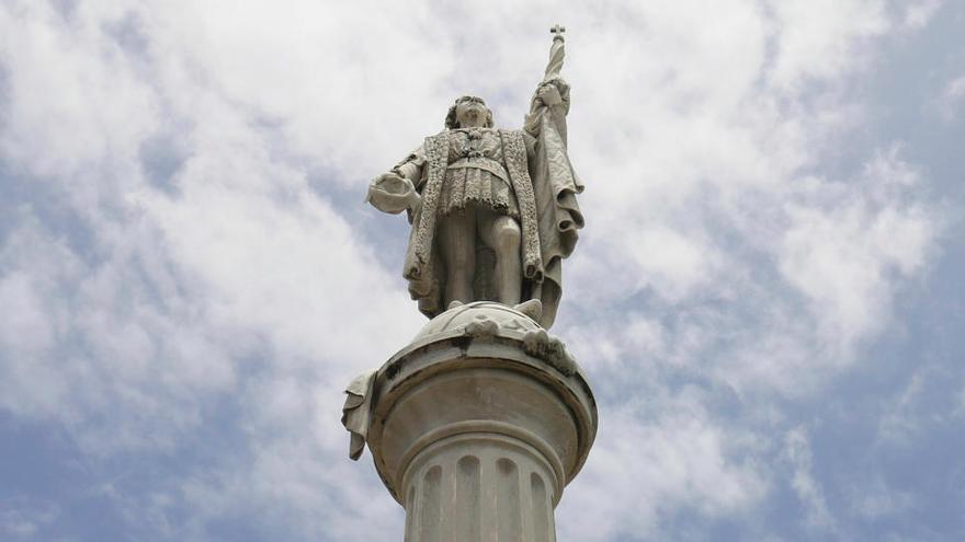 Protesta en Puerto Rico para quitar la estatua de Colón