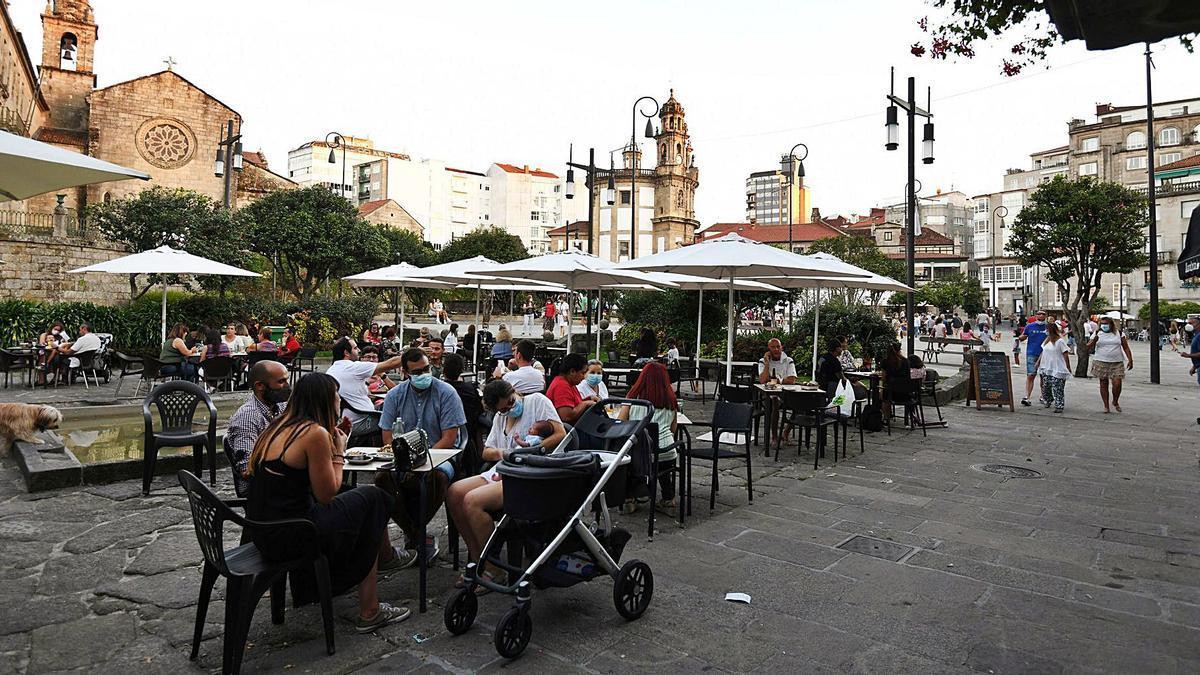 Terrazas de hostelería en Pontevedra. |   // GUSTAVO SANTOS