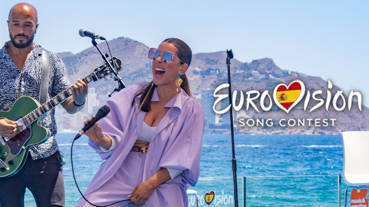 Ruth Lorenzo in her performance at the announcement of the 'Benidorm Fest 2022'.