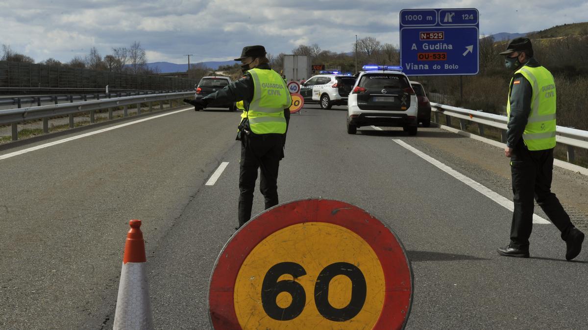 Control de movilidad en Galicia.