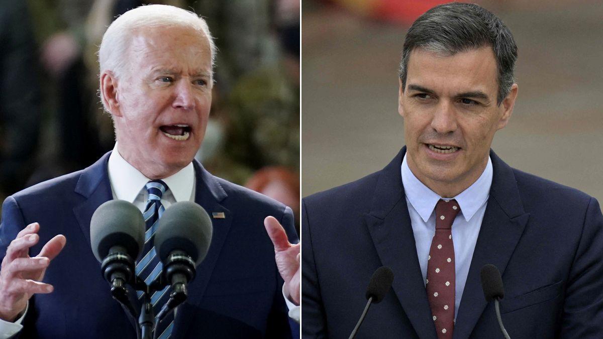 Joe Biden y Pedro Sánchez.