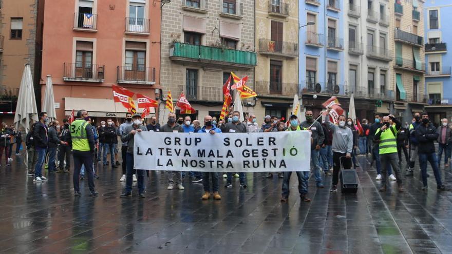 La plantilla del Grup Soler protesta avui pels impagaments salarials