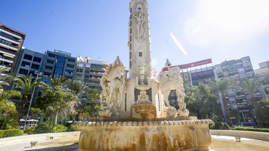 El bipartito de Alicante saca a concurso la restauración de la fuente de Luceros