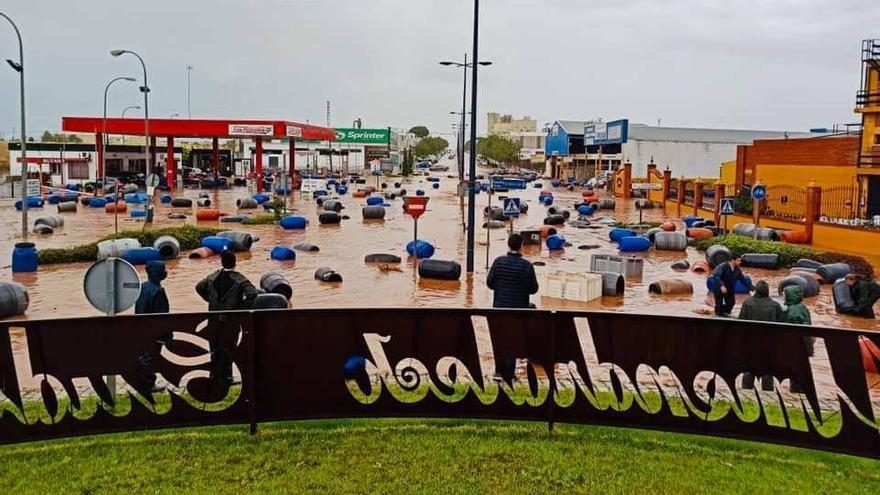 Efectos de la Dana en Extremadura: inundaciones y cortes de carretera