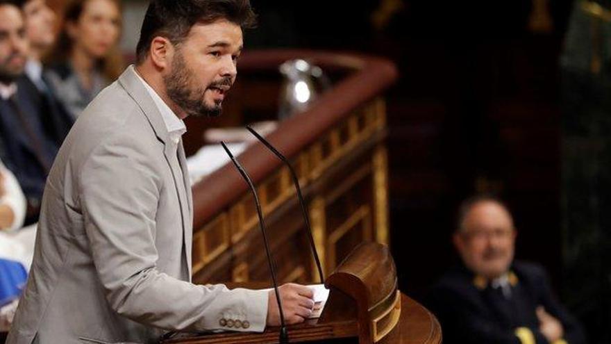 Rufián acusa a Sánchez de llegar tarde y mal a la crisis sanitaria