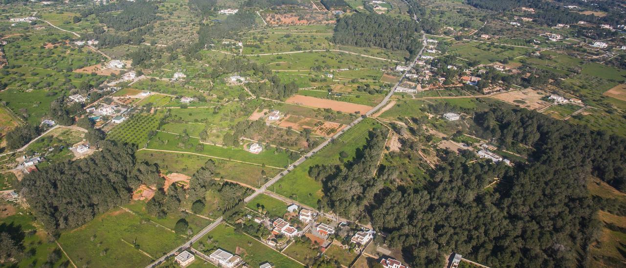 Vista aérea de una zona de Sant Mateu