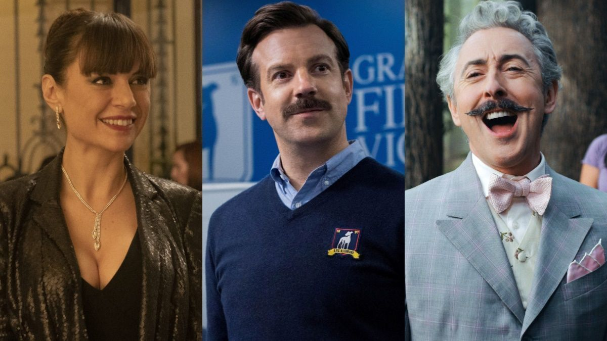 Miren Ibarguren ('Supernormal'), Jason Sudeikis ('Ted Lasso) i Alan Cumming ('Schmigadoon!')