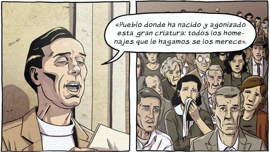 Román López Cabrera presenta su cómic sobre Miguel Hernández en Orihuela