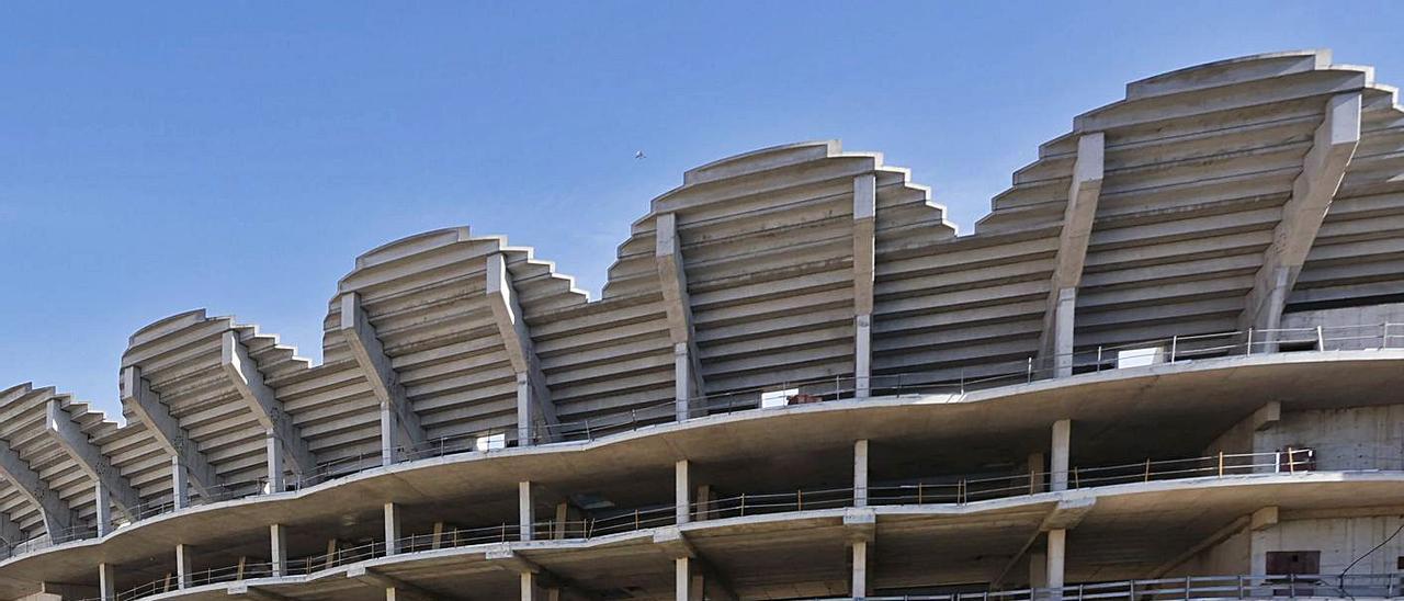 Obras del nuevo Mestalla, pendientes de ser terminadas. | G.CABALLERO