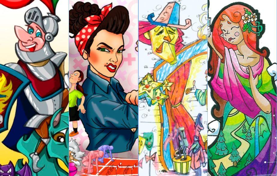 Fallas 2021 - Bocetos de la Sección Octava A