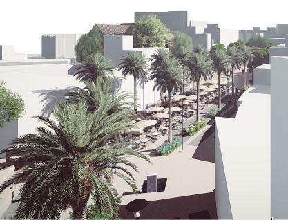 Recreación de la peatonalización de algunas calles del Centro de Torremolinos.