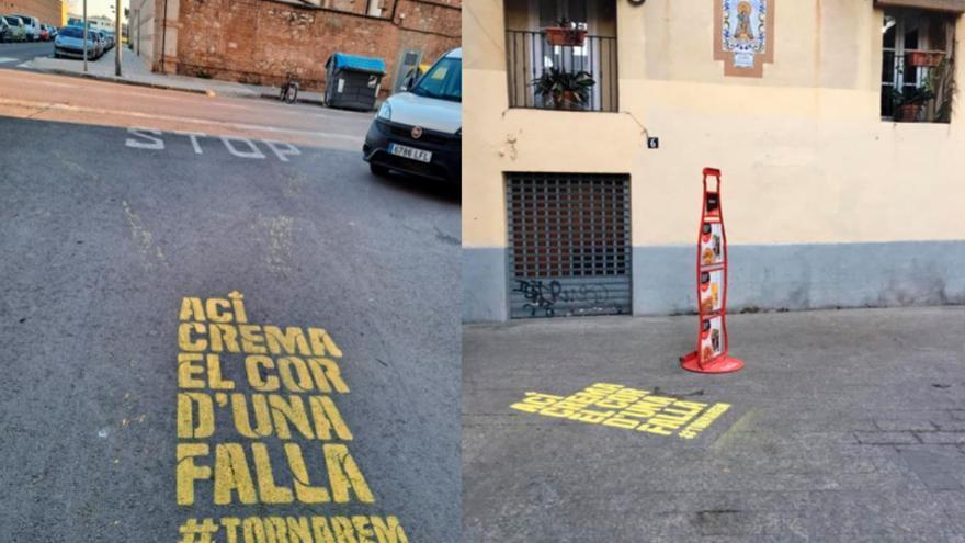 Así se ve el mensaje de las Fallas en la ciudad