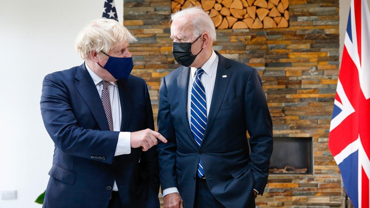 Boris Johnson y Joe Biden en Cornualles