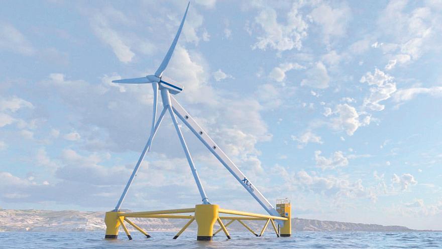 El Puerto recibe las piezas de una plataforma eólica flotante