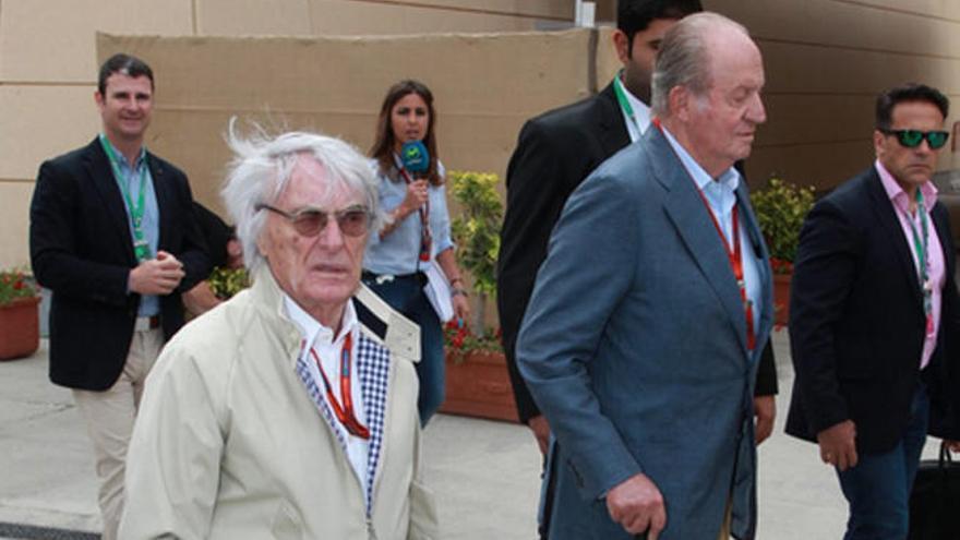 El Rey Juan Carlos disfruta de la F1 en Baréin