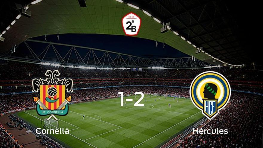 El Hércules consigue los tres puntos tras ganar 1-2 al Cornellà