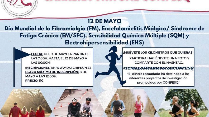 Una carrera virtual abre el programa de la Semana de la Fibromialgia