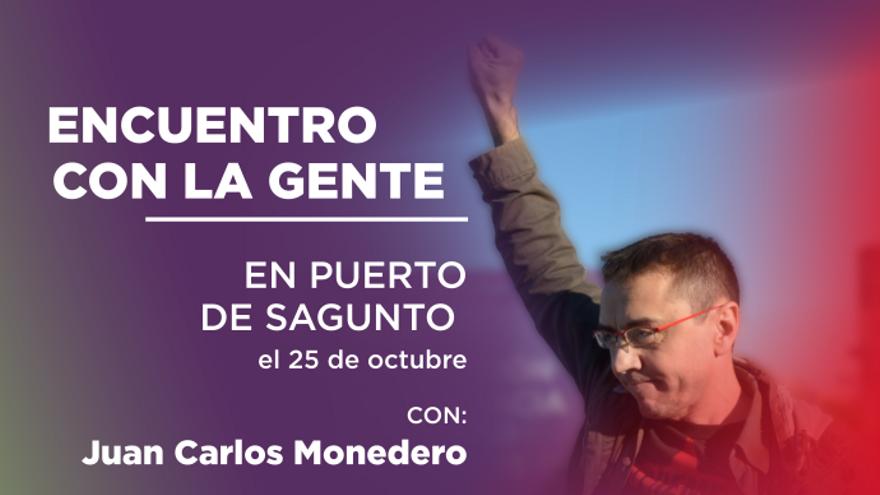 Juan Carlos Monedero visita este viernes  el Port de Sagunt