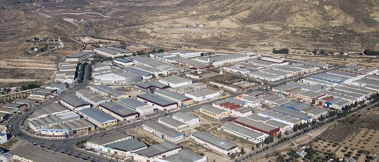 El polígono industrial Campo Alto de Elda.