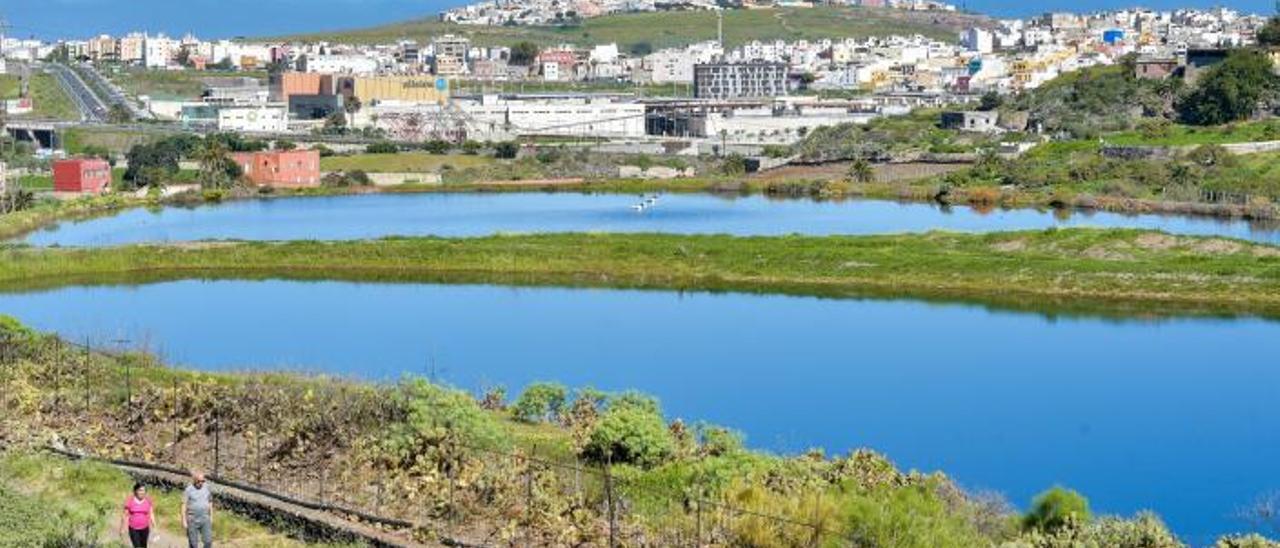 Vista de la Charca de San Lorenzo.    