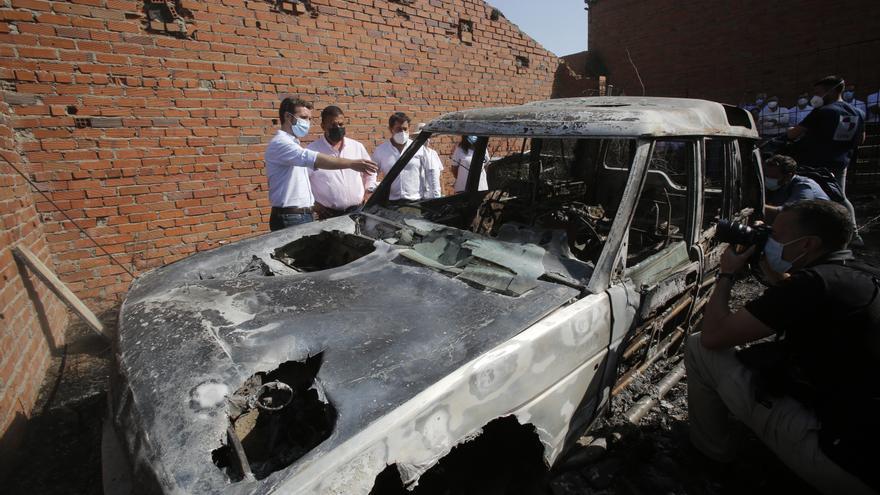 """Casado reconoce un """"acierto"""" del Gobierno declarar zona catastrófica el área afectada por el incendio de Ávila"""
