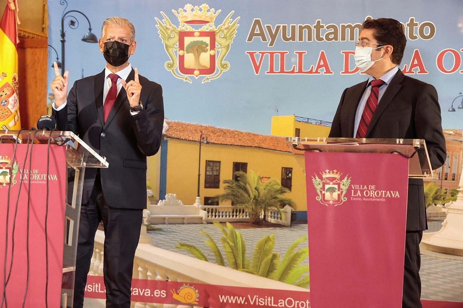Visita de Pedro Martín a La Orotava