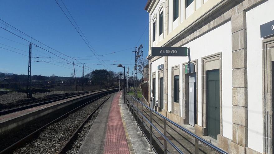Interrumpido el servicio de tren entre Vigo y Ourense por la caída de un árbol en As Neves