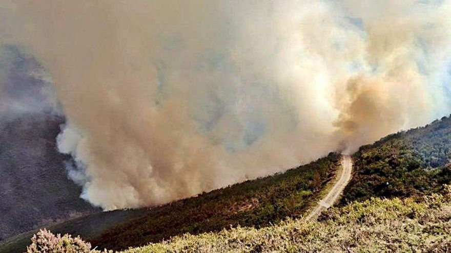 Hasta tres fuegos forestales en Allande en un día de riesgo alto