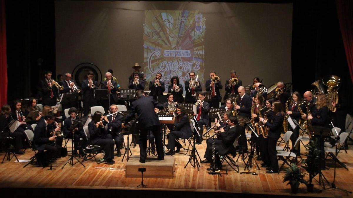 La SM Vila de Bocairent, durante uno de sus conciertos