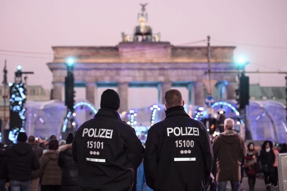 Fuerzas de seguridad en Berlín.
