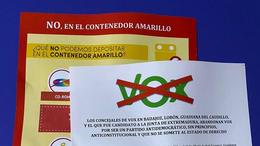 El PSOE pide que se investigue el buzoneo de folletos de los exmilitantes de Vox en Badajoz