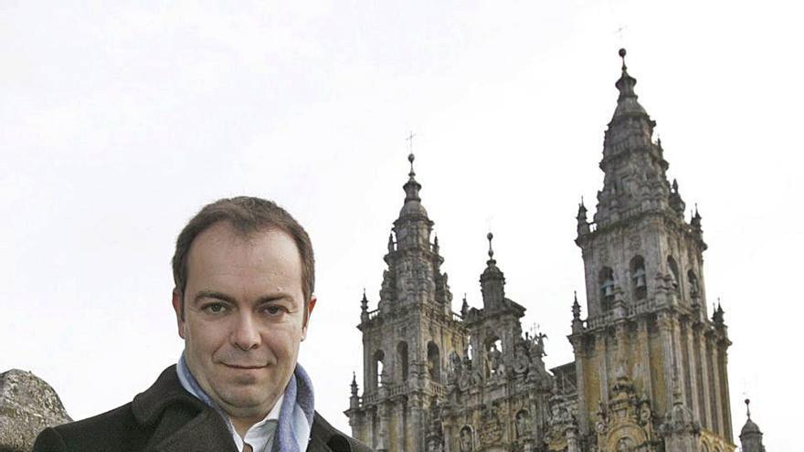 Javier Sierra, en Santiago de Compostela.  | // XOÁN ÁLVAREZ