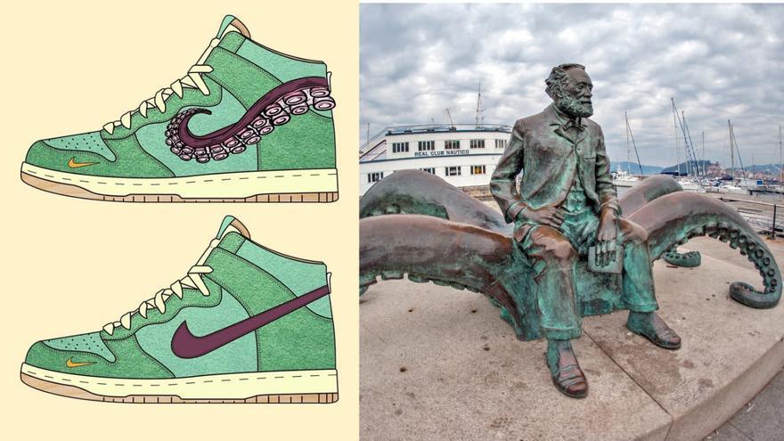 """Las """"Nike"""" que homenajean a Vigo, Julio Verne y el """"pulpo á feira"""""""