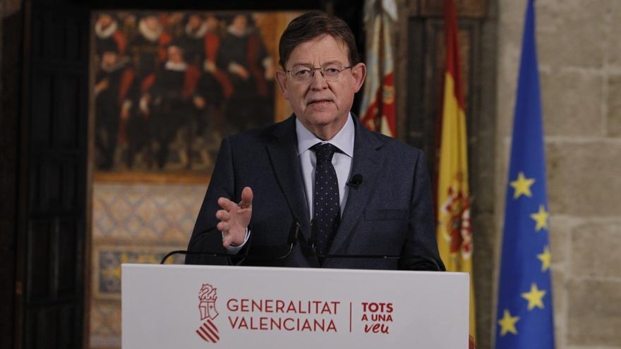 """Puig defiende que el traslado del hospital de campaña se hizo por """"prudencia"""" y que ya puede atender pacientes"""
