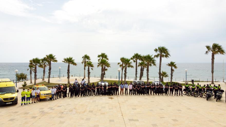 Orihuela presenta el dispositivo de seguridad para el verano en Orihuela Costa