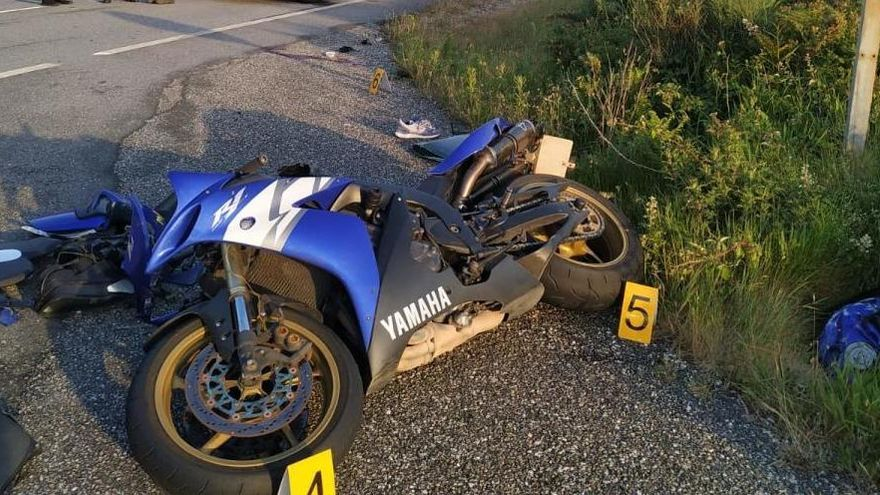 Un motorista de Oia fallece tras colisionar con un turismo en O Rosal