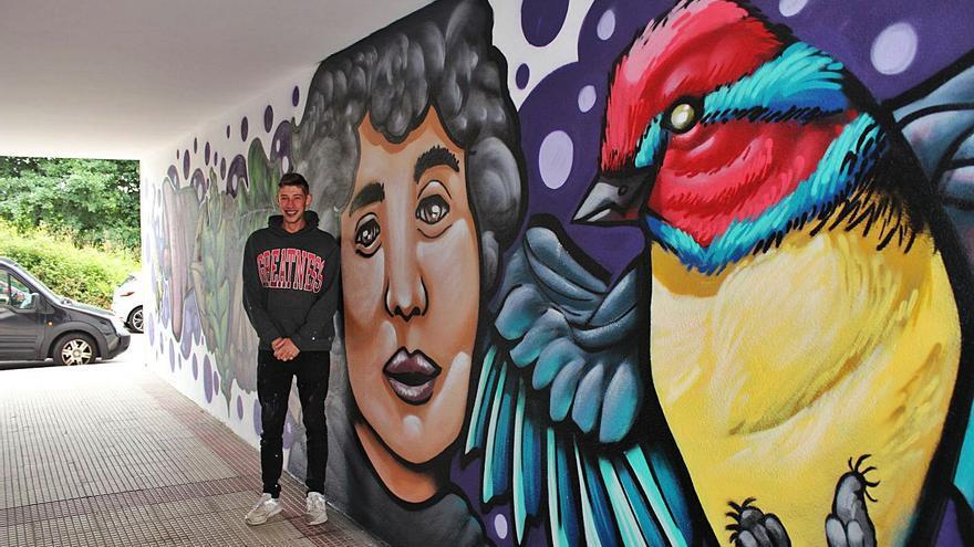 Rosalía de Castro luce en Nigrán en versión grafiti