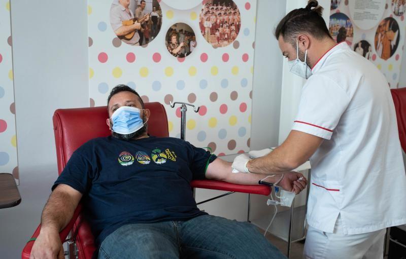 Donación de sangre de colectivos del Carnaval
