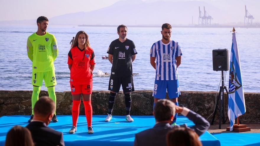 El Málaga muestra sus nuevas pieles