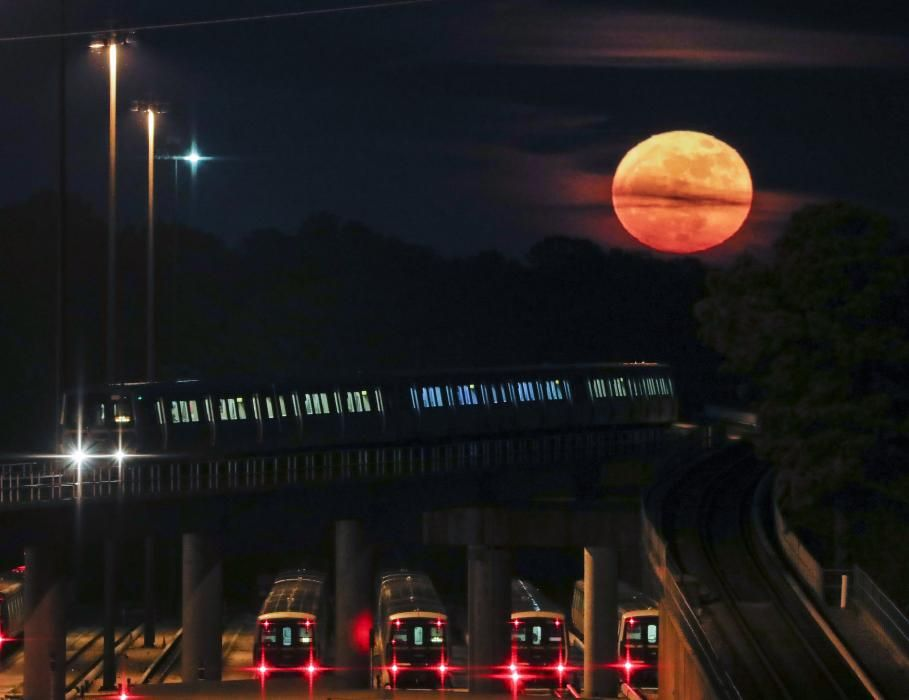 Las imágenes de la superluna