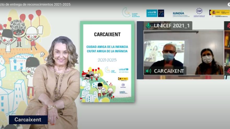Unicef declara a Carcaixent ciudad amiga de la infancia